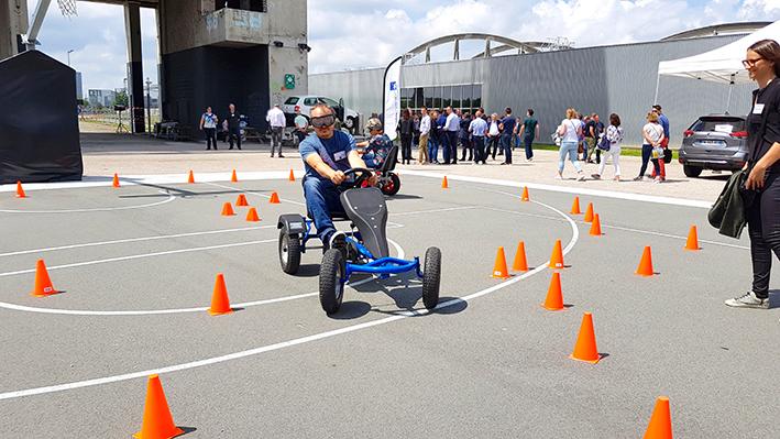 Prévention alcool au volant avec lunettes alcoolémie sur karting