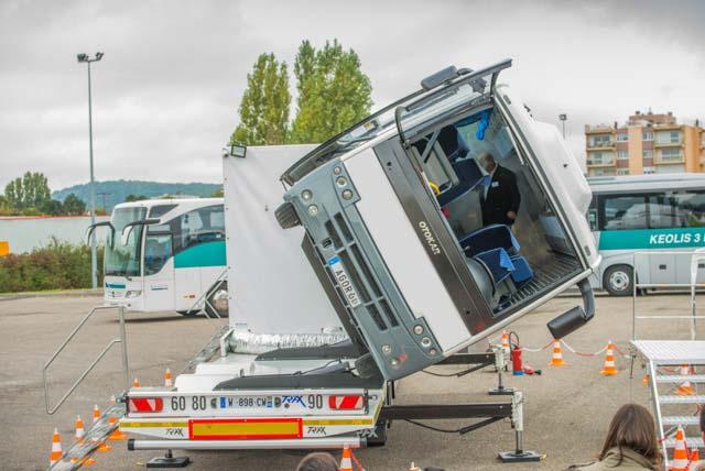 Car tonneau, le simulateur de renversement d\'autobus