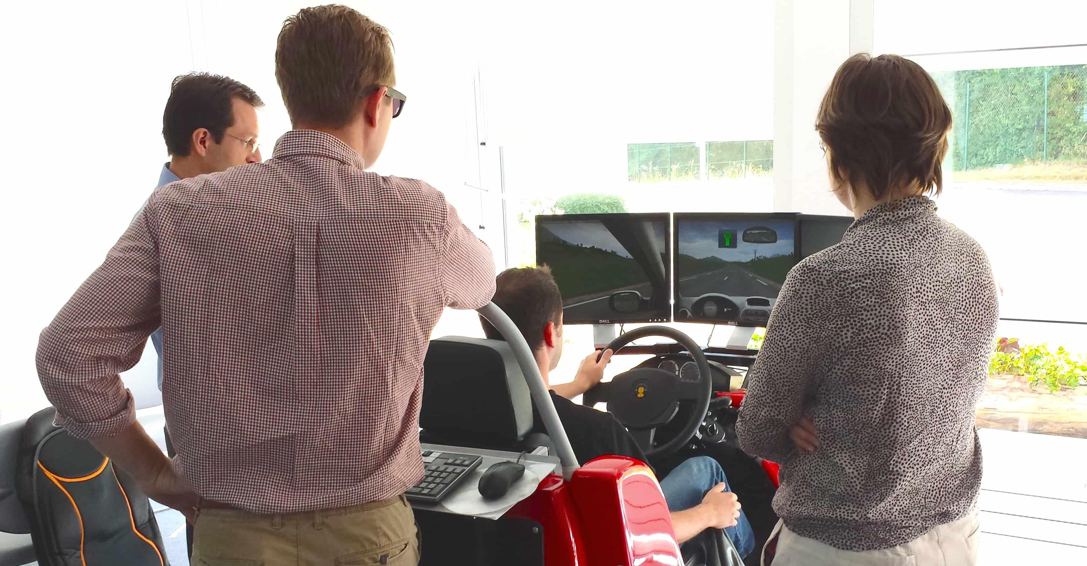 Atelier simulateur de conduite et risques routiers
