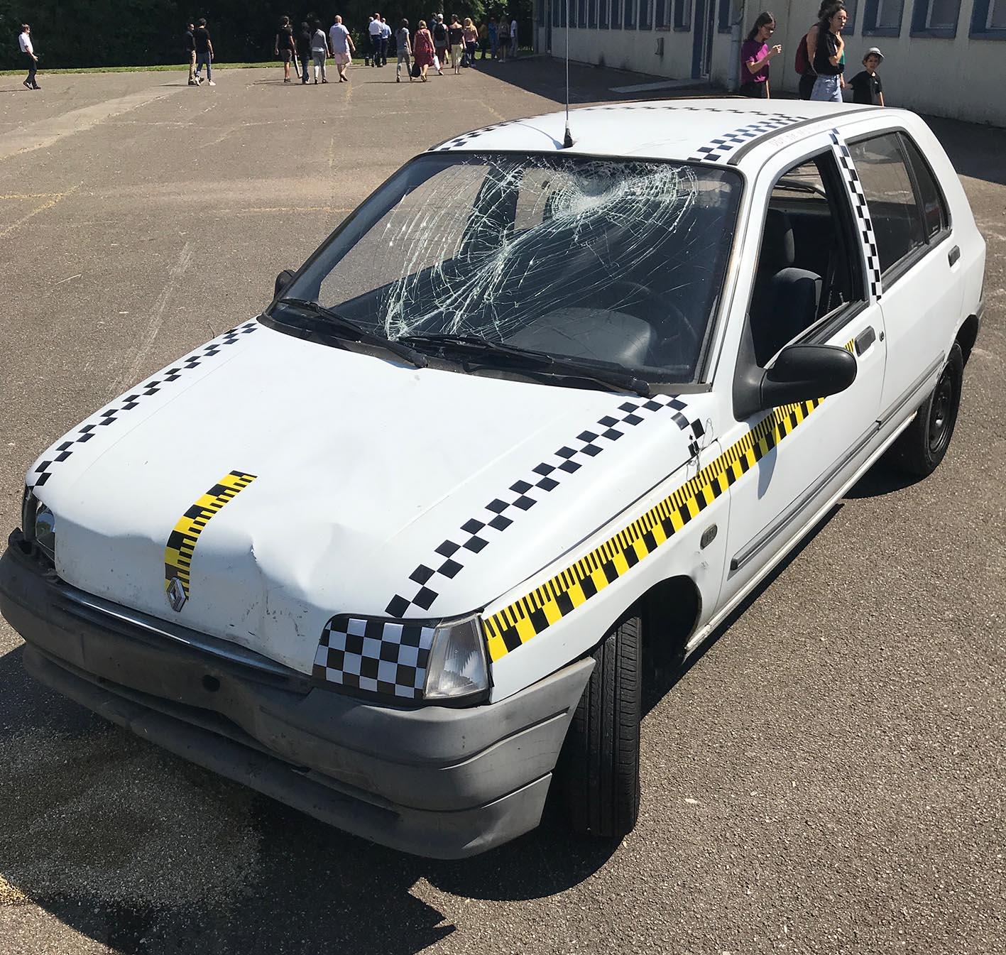 Crash test pédagogique : sensibilisation aux risques routiers