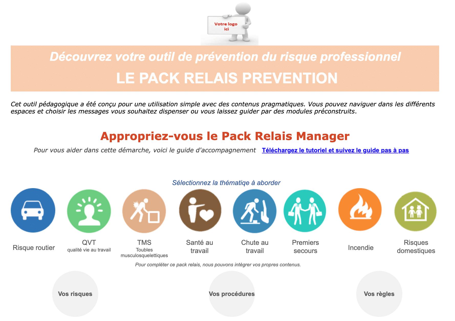 Support pour causerie sécurité et quart d\'heure prévention